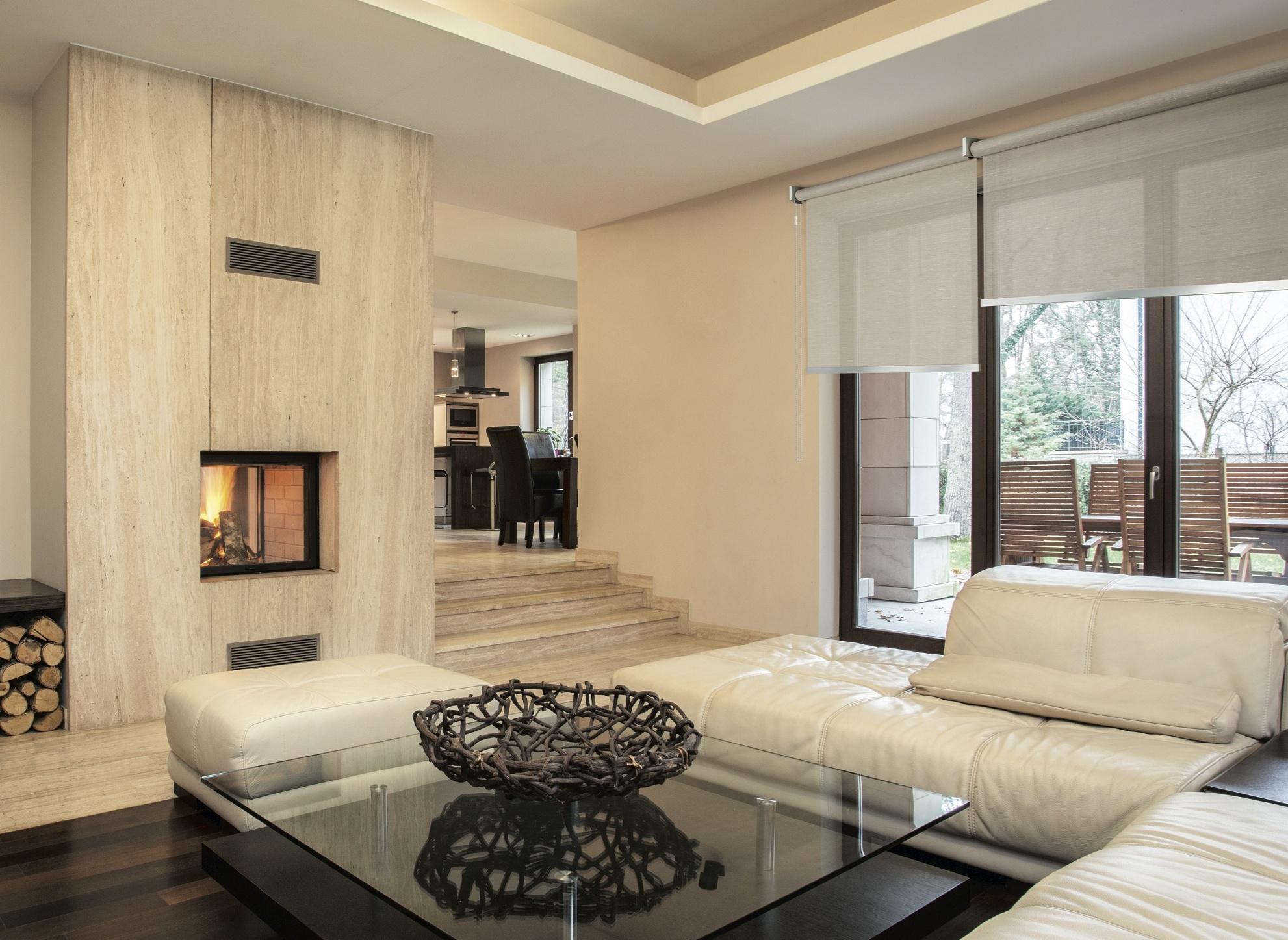 Divano letto bianco sfoderabile - Tende soggiorno classico ...