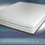 Materasso in Memory 7 e mezzo (12,5 cm + 7,5 cm Memory)