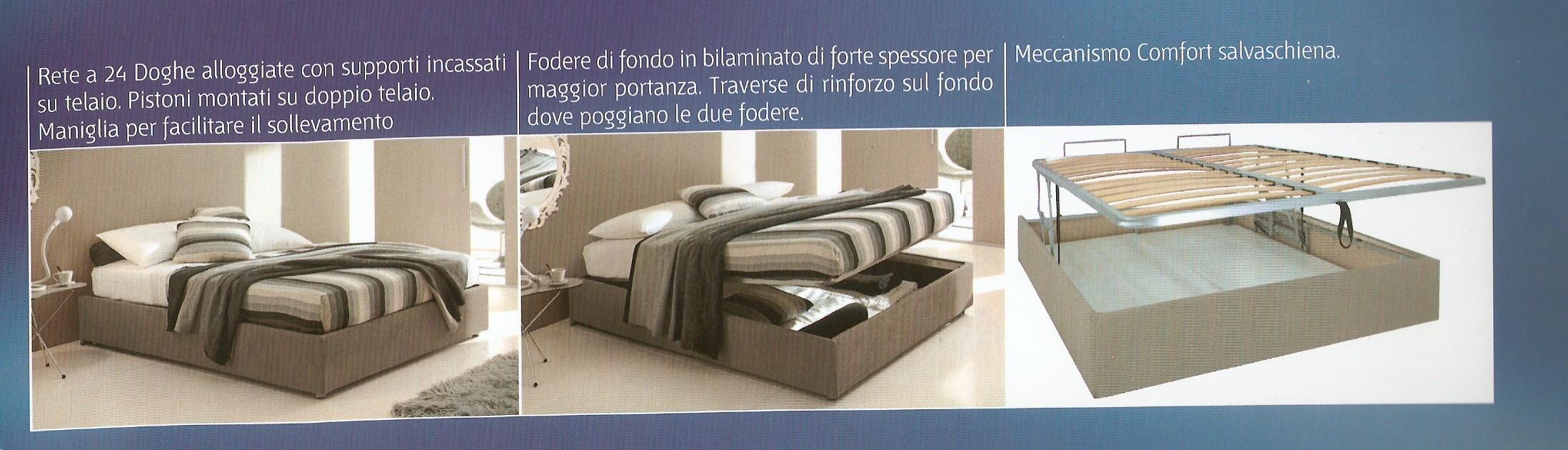 Letto contenitore fai ordine in casa con tappezzeria gloria roma - Telaio del letto ...