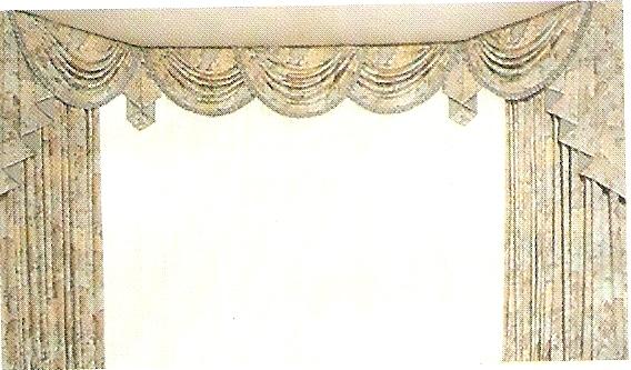 modello tende con drappeggi stile greco