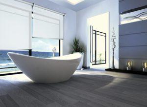 Bagno moderno con a rullo da interno